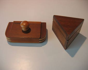 Exotic Wooden Boxes- Craft Show quality TWO FOR ONE