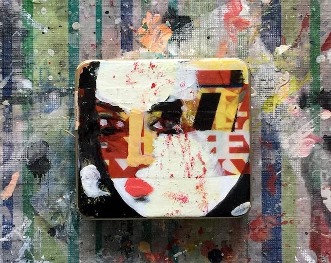 """cigar-tin story / art object / short story / art gift / literary gift / home decor / """"Endings 86 to 91"""""""