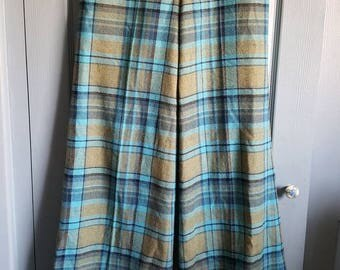 Trousers, vintage trousers, Vintage Flares, 1970's women's Flares, Vintage H&M, vintage pants, pants, 1970s pants, plaid pants, tartan