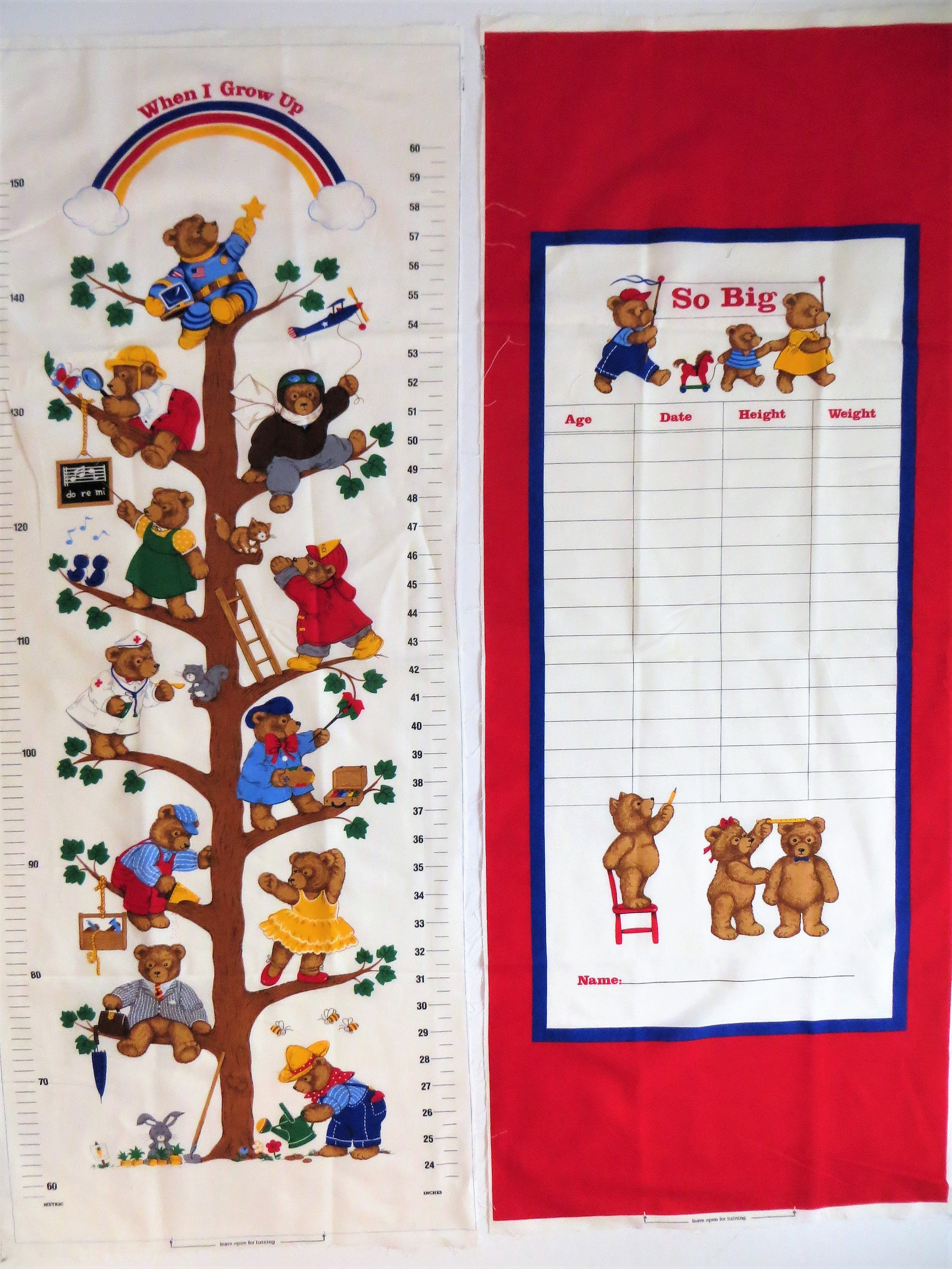 Teddy bear growth chart fabric when i grow up childs growth chart get shipping estimate geenschuldenfo Images