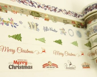 Christmas - Japanese Washi Tape Set - 10 Yards (each roll) - 6 rolls - No discount