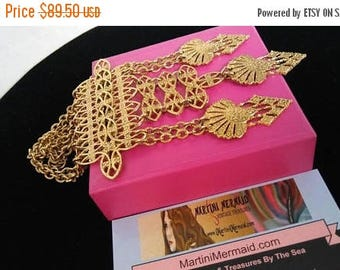 Now On Sale Vintage Statement Necklace, 1960's 1970's Collectible High End Jewelry
