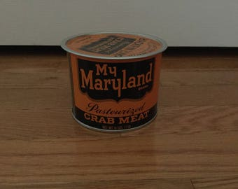 My Maryland crab meat tin can