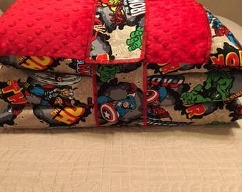 Kindermat / Nap Mat Cover in Avengers Print
