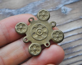 Vintage brass plate,connector.