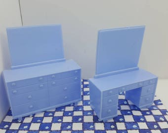 Superior bedroom Vanity and Dresser blue Furniture Soft  Plastic items Colorful