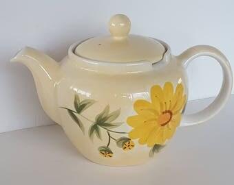 Handpainted Yellow Flower Tea Pot Whittard of Chelsea Amaranta