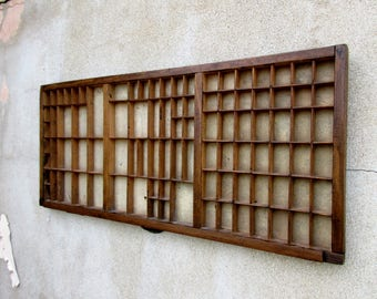Vintage Wooden Industrial Printers Tray Letterpress Drawer