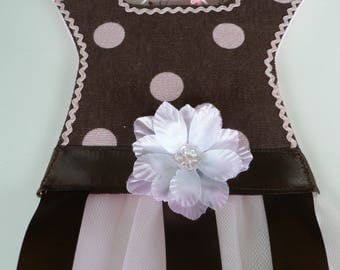 Pink and Chocolate Dots Barrette Holder