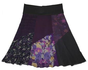 Recycled Skirt Boho Chic Women's Medium Large Hippie Skirt Size 8 10 Repurposed Upcycled Skirt Fall Skirt Twinkle Skirts Twinklewear