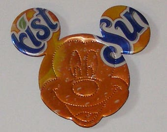 MICKEY/Minnie MOUSE Magnet  - Orange Sunkist - Perforated Face (Replica)