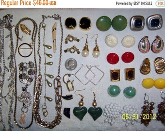 TWICE A YEAR, 25% Off Vintage Jewelry Lot 67. A Bit of Every Color.