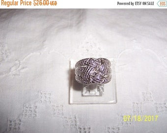 TWICE A YEAR, 25% Off Vintage Celtic or Love knot diamond ring. Sterling over Brass.