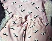 Flying Panda Pajamas - Women Pajamas-Cute Pajama Shorts and T-shirt