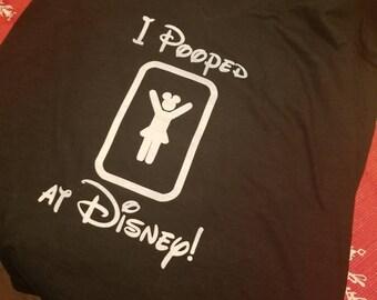 Custom pooped in Disney T-shirt