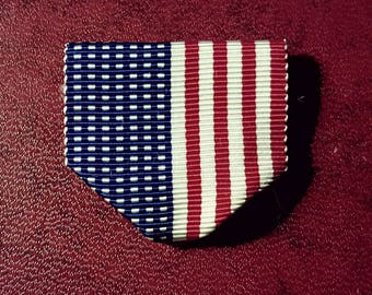 LAPEL pin STARS and STRIPES ribbon,4th of July partyfavors,medals,costumes,cosplay,military,grosgrain,patriotic drape
