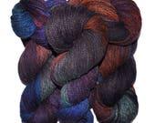 Hand dyed yarn - Alpaca / American wool yarn, Worsted weight, 240 yards - Cocomama
