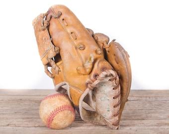 Old Vintage Leather Baseball Glove / Kids Proline Baseball Glove / Antique Baseball Glove / Old Glove Antique Mitt / Baseball Decor