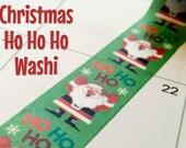 Christmas Ho Ho Ho Xmas Santa washi tape, winter, scenery, planner, craft, scrapbooking, journal, bujo, masking tape, paper tape