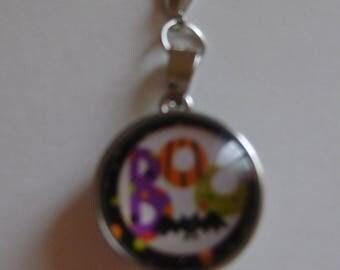 Halloween BOO and a Bat Snap Button Zipper Pull // Halloween BOO and a Bat Snap Button Planner Charm