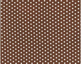 Spot On Chocolate Mini Dots From Robert Kaufman Fabrics