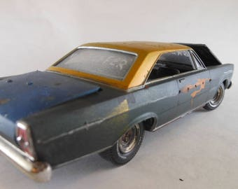 Ford Galaxie 500,Scale Model Car,Classicwrecks,Musclecar Era,Rusted Wreck,Rat Rod,Junk Yard, Barn Find,Junker Model,Steampunk