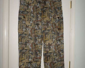 Men's Camo Pants Walls Oil Field 34-36 Camoflauge Hunting Cargo Pants Pockets Outdoors man