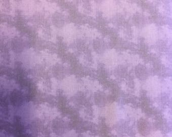 Fabric Freedom Water Colour Floral  FF169/2 in Lilac by the half metre