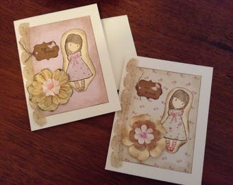 Set of Two Friendship Cards