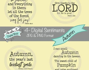 We Are 3 Digital Shop - Autumn Sentiments, Scripture, JPEG, PNG