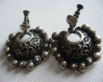 Carmen Bekmann Mexico Sterling Screwback Earrings