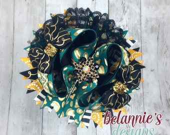 Leopard Boutique Bow ~ Stacked Boutique Bow ~