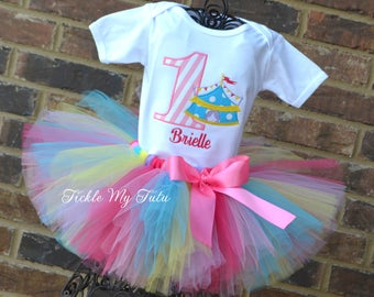 Carnival Birthday Outfit-Under the Big Top Circus Tent Carnival Themed Birthday Tutu Outfit-Carnival Party Outfit-Circus Party Outfit