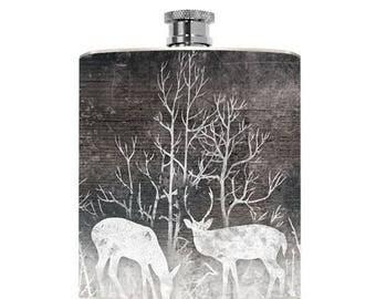 Deer Flask Drinking Gifts Mens Flask Womens Groomsmen Liquid Courage Hip Flask Wedding Stocking Stuffer Christmas Gifts Outdoorsy Outdoorman