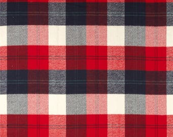 Changing Pad Cover - Red Navy Check