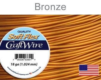 Supplies-18 Gauge Wire Round Bronze Craft Wire 7 Yards