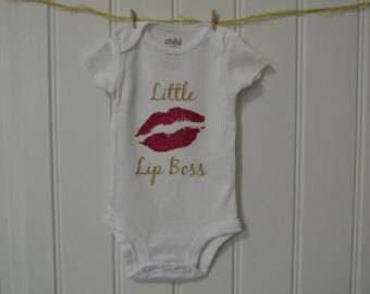 Little Lip Boss...Newborn Outfit...Baby Girl Bodysuit...Newborn Bodysuit...Newborn Girl...Bodysuit...Hospital Outfit...Lips Bodysuit