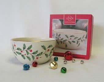 Lenox Christmas Holiday Bowl - Snack Bowl, Candy Dish, Nut Bowl - Holiday Decor, Party Decor, Christmas Dish