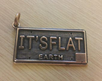 Flat Earth License Plate