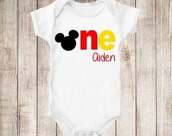 ON SALE Mickey Inspired First Birthday 1st Birthday Personalized Birthday Shirt - ANY Age