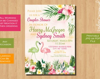 couples bridal shower invitation couples shower invitation coed bridal shower bridal shower invitation printable co-ed shower wedding floral