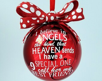 Best friend ornament - best friend gift idea - Angel Christmas ornament - Special friend gift - Christmas gift for Girlfriend - Best friend