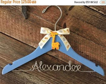 SUMMER SALE Baby Hanger / Children's Personalized Hanger / Kids Hanger / Boy Hanger / Baby Shower Gift- DESIGN Your Own