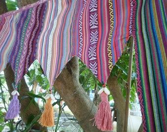 Tribal Textile Door Toran , Tribal Door Decoration, Tribal Window Decoration