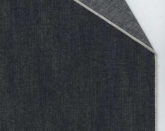 Navy Blue Selvedge Denim, Fabric By The Yard