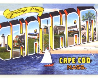 Greetings from Chatham Cape Cod Massachusetts Fridge Magnet