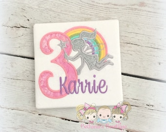 Fairy birthday shirt - fairy themed birthday - rainbow fairy - pastel rainbow theme - silver fairy - 1st birthday shirt - personalized fairy