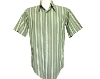 Vintage Men's Shirt // Men's 60s Shirt // 1960's Vintage Shirt // Vintage 70s Shirt // Vintage Enro Shirt // Medium 15-32