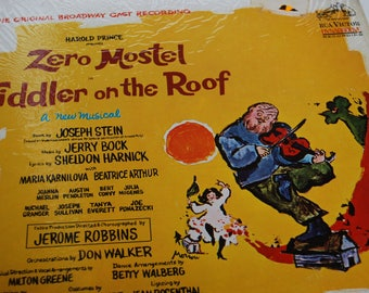 Fiddler On The Roof Zero Mostel Original Broadway Cast Recording Record 1964