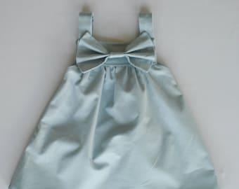 Teal Big Bow Dress Baby Toddler Child Teal Dress